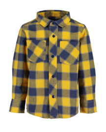Blue Seven-Mini boys woven shirt-Honey check orig