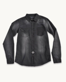 Blue Seven-Boys Overhemdblouse- Black