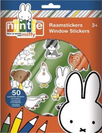 Nijntje Raamstickers-B-Multi Color