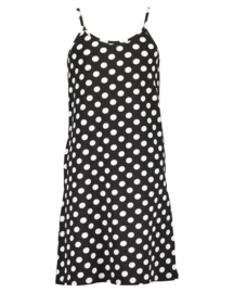 Girls knitted dress-Blue Seven-Black