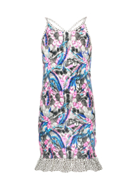 B.Nosy-Girls dress with contrast ruffle-Fash feathers