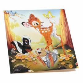 Craft Buddy- Card Kit-Diamond Painting Disney Bambi & Friends- Multi Color
