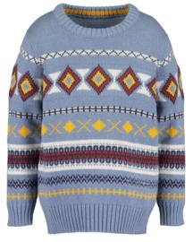 Blue Seven-Kids Boys knitted pullover-Med blue