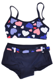 Girls Toddler bikini tanktop Dots- Lentiginni- Blauw