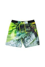 Boys Short Drawstring + Side Pockets- Lentiggini- black + neon
