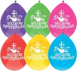 """Ballonnen Sinterklaas """"Welkom""""-C.W.-Multi Color"""