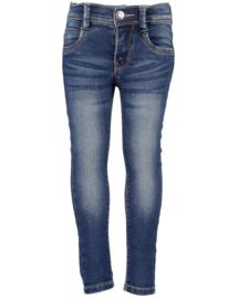 Blue Seven-Kids Grils woven jeans-Basic -DK Blue orig