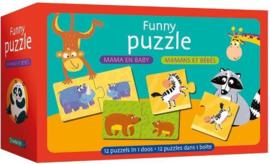 Deltas-Funny puzzle - Mama en baby -Red
