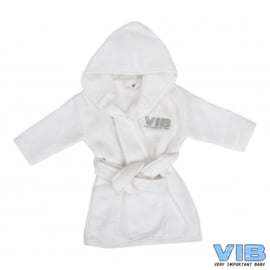 VIB.-Unisex Badjas wafel VIB'-White -Silver