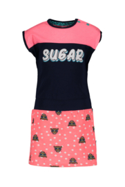 B.Nosy-Baby girls dress with tiger dots -Tiger dots-Blue