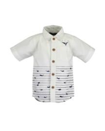Mini boys woven shirt-WHALE DIVE-Blue Seven-WHITE ORIG