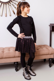 Girls dress with flock aop top and sequince skirt  -B.Nosy-Black zebra