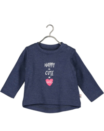 Blue Seven-Baby Girls knitted shirt- Jeansblue orig