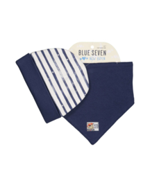 Baby Boys cap + scarf- Blue Seven- White+Peacoat