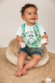 Dirkje-Baby Boys T-shirt ss -Light aqua