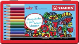 Kleurpotloden STABILO Color 979 blik à 12 kleuren