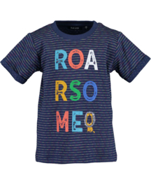 Kids Boys knitted T-shirt- HANDTAME-Blue Seven-DK BLUE ORIG