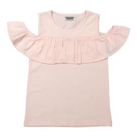 Girls T-shirt-DJ Dutch Jeans- Faded Light Pink