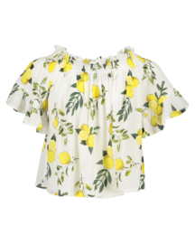 Blue Seven-Girls woven blouse-Straw orig-Yellow