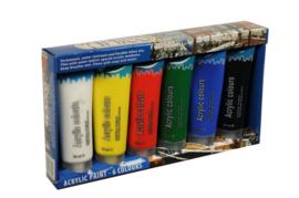 Artico-Verf acryl 6 kleuren a 75ml-Multi Color