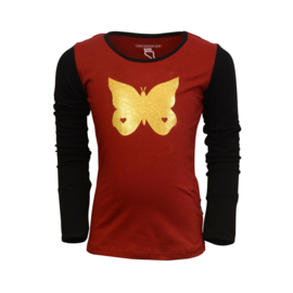 Girls Shirt Odette -Lovestation22-Crimson red