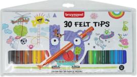 Bruynzeel- Viltpunters etui 30 viltstiften-C.W.-MultiColor