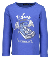 Blue Seven- Girls Kids Shirt - Blue