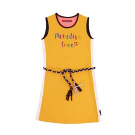 LoveStation22-Girls Dress Gigi- Yellow Silver