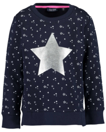 Blue Seven-Kids Girls knitted sweatshirt-Night Blue aop orig