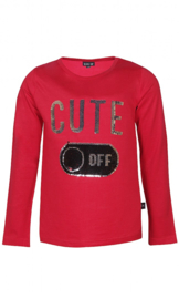 Girls T-Shirt ls- Kids Up- Red