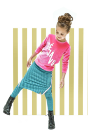 Girls striped maxi skirt - BNosy- Aqua sky melee