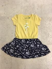 Blue Seven-Kids Girls knitted Dress-Corn Yellow