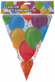 C.W.-Vlaggenlijn 3,6 meter-Ballonnen print-Multi Color