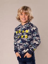 DJ Dutch Jeans-Boys Sweater ls with hood-Navy + aop