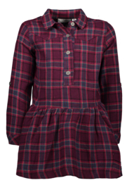 Bampidano-Girls Kids woven check dress-Pink Check
