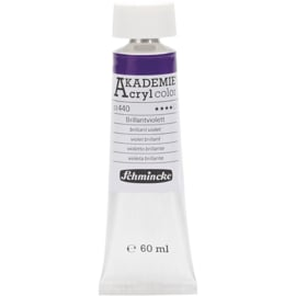 Acryl color-brilliant violet (440), transparent, good fade resistant, 60ml-Schmincke AKADEMIE