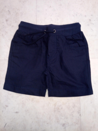 Blue Seven-Mini Boys woven pull-up shorts -Night blue