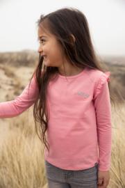 Koko Noko-Girls Nykee T-shirt ls Bio Cotton-Bright pink