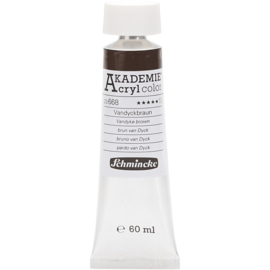 Acryl color-vandyke brown (668), semi-transparent, extr. fade resistant, 60ml-Schmincke AKADEMIE