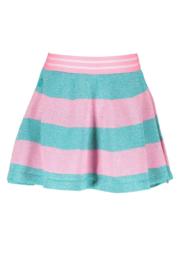 Girls knitted lurex stripe skirt-B.Nosy-Hot turquoise