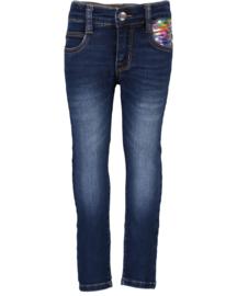 Blue Seven-Kids Girls woven jeans trouser-DK Blue denim orig