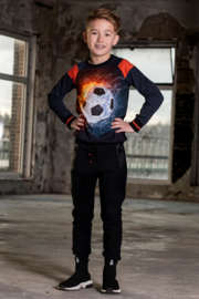 Boys  Raglan sweater Sietse-Legends22-Black/D.Blue