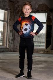 Boys  Raglan sweater Sietse-Legends22-Black/D.Blue