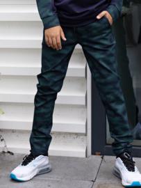 Bellaire-Boys AOP Camo Pants-Navy blazer