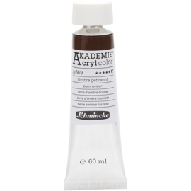 Acryl color-burnt umber (669), opaque, extr. fade resistant, 60ml-Schmincke AKADEMIE