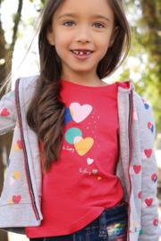 Blue Seven-Kids Girls knitted T-shirt-Lt Red orig