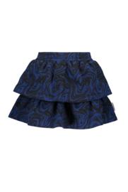 B.Nosy-Girls 2-layer marble ao sweat skirt-marble ao Blue