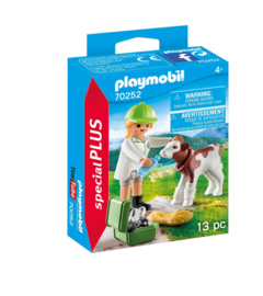 Playmobil Special Plus-CW.-Dierenarts met kalf- 70252-Multi Color