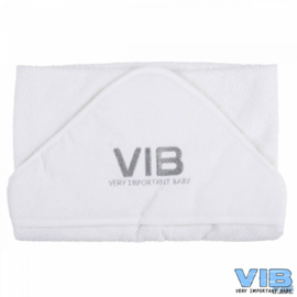 VIB.-Unisex Badcape VIB -White-Silver