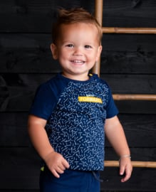 B.Nosy-Baby boys short sleeve with aop body-Kris kras space blue